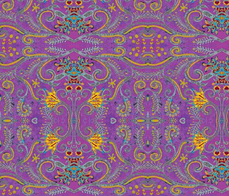 eppleyanna, purple fabric by hooeybatiks on Spoonflower - custom fabric