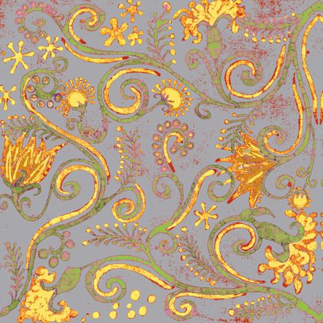 eppleyanna, gray fabric by hooeybatiks on Spoonflower - custom fabric