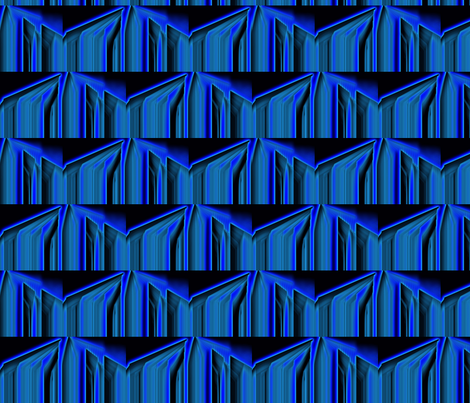 Blue Saw Neon fabric by anniedeb on Spoonflower - custom fabric