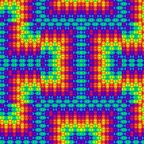 Rainbow Geometry 2 fabric by anneostroff on Spoonflower - custom fabric