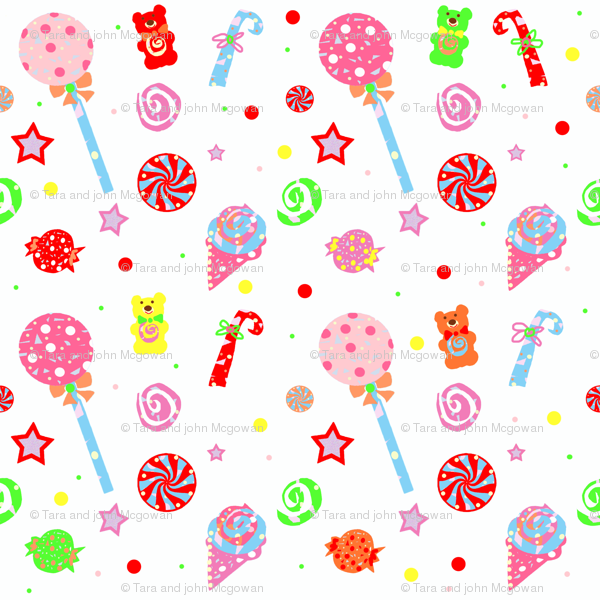 Kid In A Candy Shop Wallpaper Taramcgowan Spoonflower