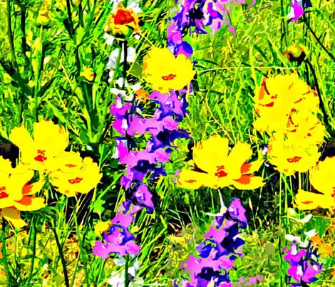 Springtime on the Prairie fabric by anniedeb on Spoonflower - custom fabric