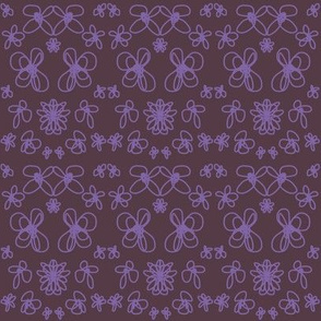 Purple and maroon floral