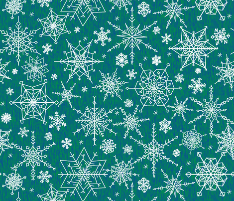 Snow in the forest fabric by victorialasher on Spoonflower - custom fabric