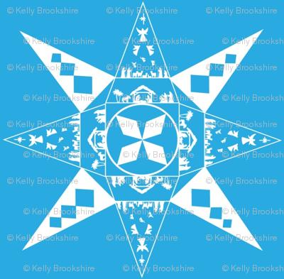Nativity Snowflake blue