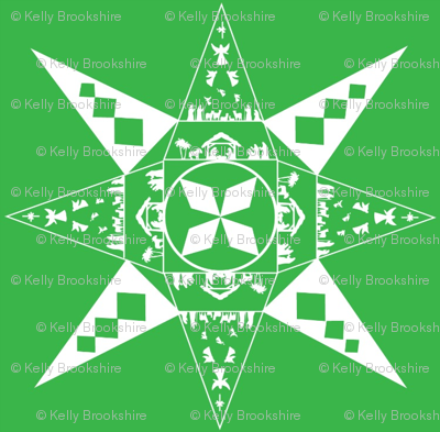 Nativity snowflake green