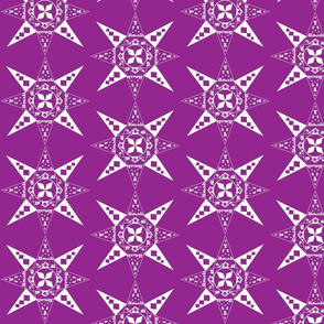 nativity snowflake purple