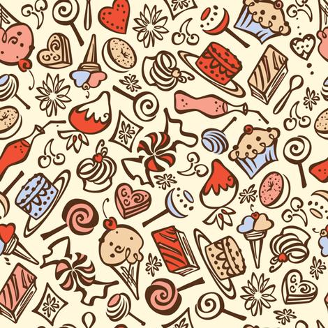 Mon Bon-Bon fabric by karistyle on Spoonflower - custom fabric