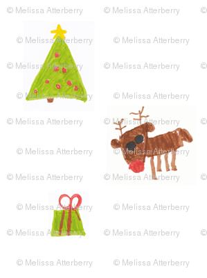 Christmas Reindeer Tree and Present