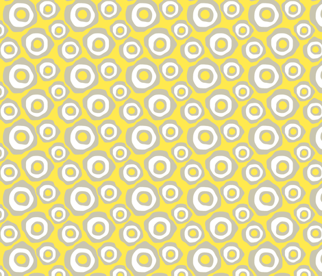 Fried Circles Grey 2 fabric by ravenous on Spoonflower - custom fabric