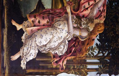 3 YARDS long repeat: Sandro Botticelli - Birth of Venus fabric by bonnie_phantasm on Spoonflower - custom fabric
