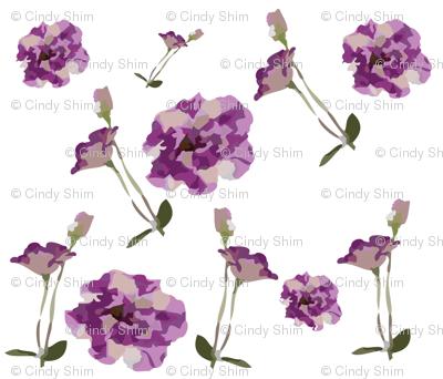 Purple-garden-flowers-pattern