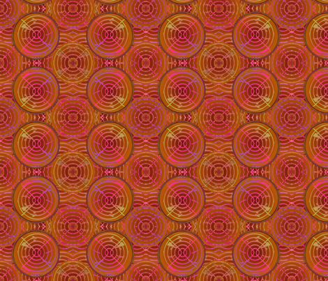 brown circles fabric by y-knot_designs on Spoonflower - custom fabric