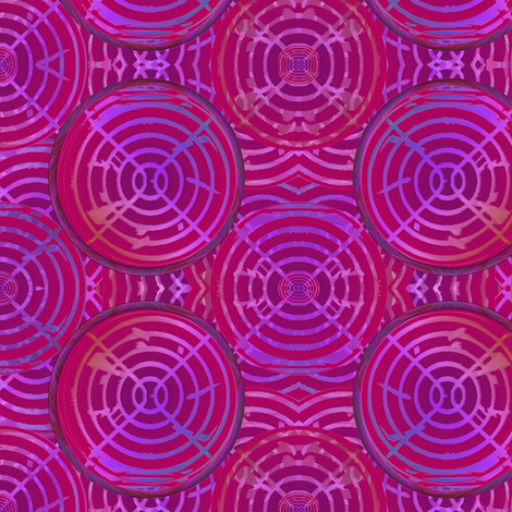 mulberry circles fabric by y-knot_designs on Spoonflower - custom fabric