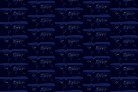 Earth_at_night fabric by beefox on Spoonflower - custom fabric