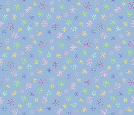 Snowflake 2 fabric by eyespotdesigns on Spoonflower - custom fabric