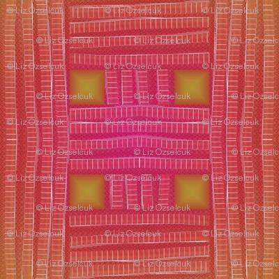 red-orange mesh