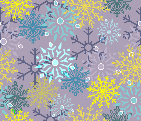 SnowyFlakes fabric by catail_designs on Spoonflower - custom fabric