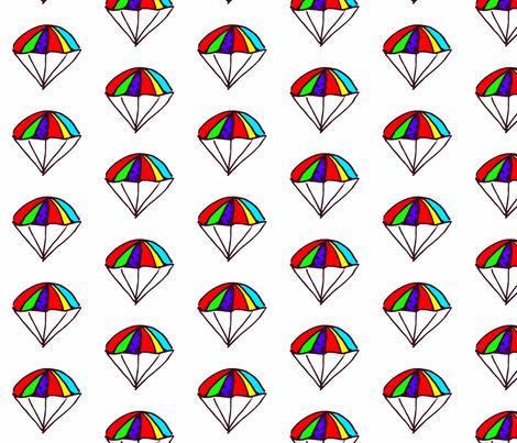 Rainbow Parachutes fabric by anniedeb on Spoonflower - custom fabric