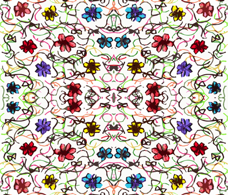 Tiny Flowers fabric by anniedeb on Spoonflower - custom fabric