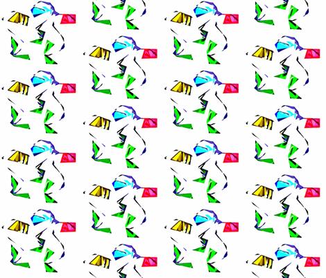 Shredded Flowers fabric by anniedeb on Spoonflower - custom fabric