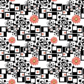gerberas black and white