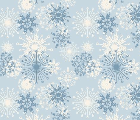 snowflake fabric by bussybuffu on Spoonflower - custom fabric