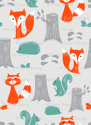 Woodland Creatures Scattered