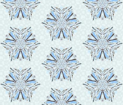 snowflake_1 fabric by peegee on Spoonflower - custom fabric