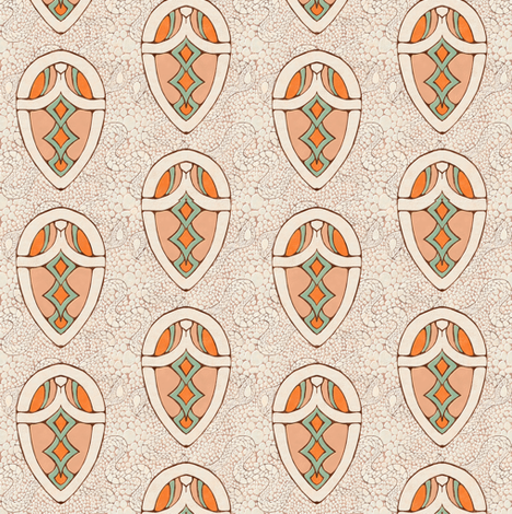snake_white_orange fabric by kirpa on Spoonflower - custom fabric