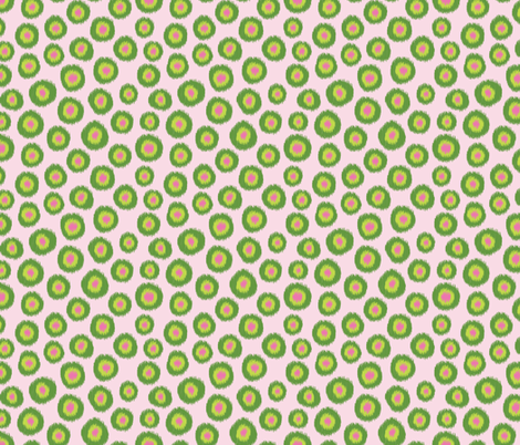Candy_is_Dandy-Ikat-BabyPink4 fabric by groovity on Spoonflower - custom fabric