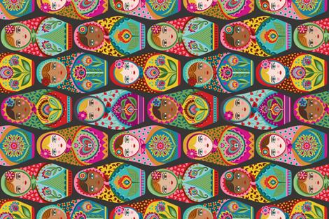 Irina and Friends-for tea towel fabric by groovity on Spoonflower - custom fabric