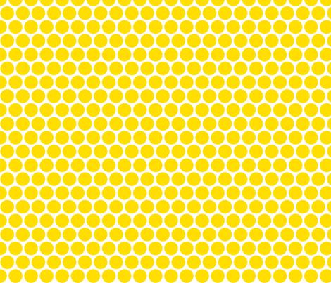 Milledotti (yellow) fabric by pattern_bakery on Spoonflower - custom fabric