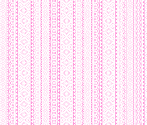 Folk (pink) fabric by pattern_bakery on Spoonflower - custom fabric