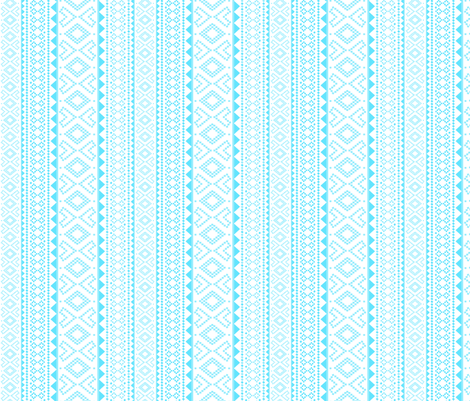 Folk (turquoise) fabric by pattern_bakery on Spoonflower - custom fabric