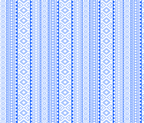 Folk (blue) fabric by pattern_bakery on Spoonflower - custom fabric