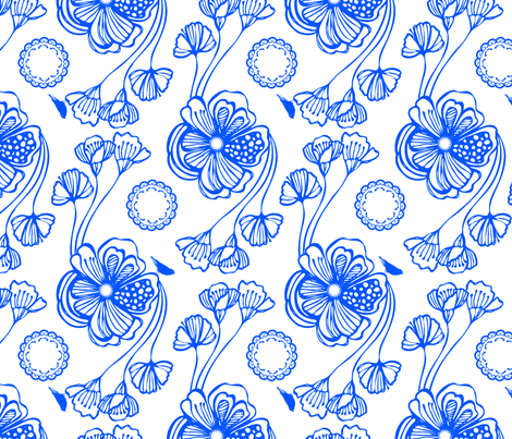 Sugar (blue) fabric by pattern_bakery on Spoonflower - custom fabric