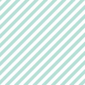 Diagonal Stripe Mint