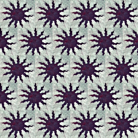 Batik Purple Sun fabric by hooeybatiks on Spoonflower - custom fabric
