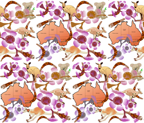 THE LAND DOWN UNDER fabric by bluevelvet on Spoonflower - custom fabric