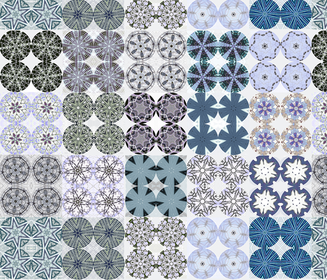 Snowy Button Covers fabric by wren_leyland on Spoonflower - custom fabric