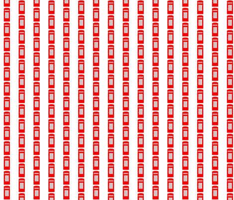 TELEPHONE BOOTH STRIPES fabric by bluevelvet on Spoonflower - custom fabric