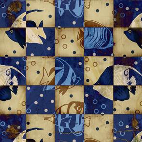 Checkered Blue Fish
