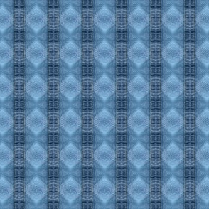 Debra Cortese Designs Denim Blues Vertical Diamond Stripes