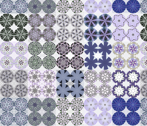 Blue Urchin Snowflake fabric by wren_leyland on Spoonflower - custom fabric
