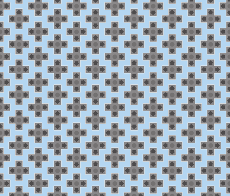 D-Pads in Baby Blue fabric by ilikemeat on Spoonflower - custom fabric