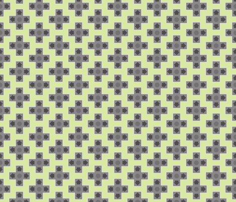 D-Pads in Green fabric by ilikemeat on Spoonflower - custom fabric