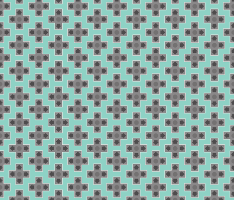D-Pads in Teal fabric by ilikemeat on Spoonflower - custom fabric