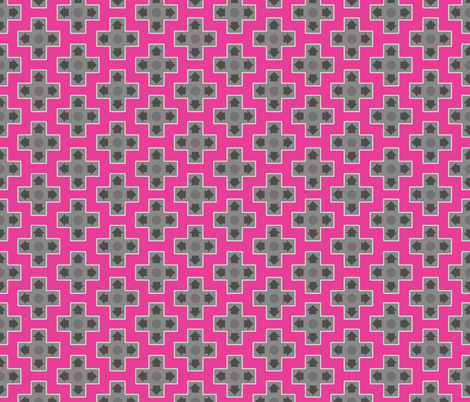 D-Pads in Hot Pink fabric by ilikemeat on Spoonflower - custom fabric