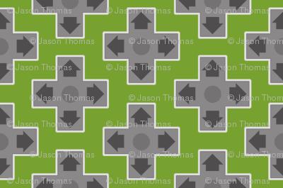 D-Pads in Dark Green